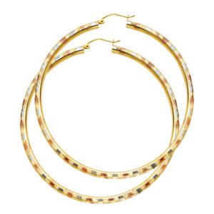 ER1006-555x555 14k tricolor gold hoops 2.5in diameter $399.99