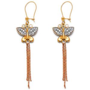 ER1411-450x450 14k triocolor butterfly long earrings 2.5in long $ 265.00