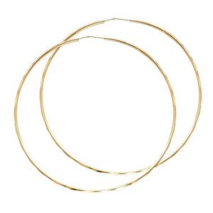 ER178-450x450 14k white gold hoops 2.5in diameter $354.99