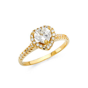 RG1260-450x450 14k yellow gold cubic zircone heart engagement ring $199.00