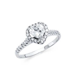 RG1261-450x45014k white gold cubic zircone heart engagement ring $199.00